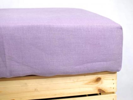 Daria fialová - lněné prostěradlo na jednolůžko - SS0189_SV