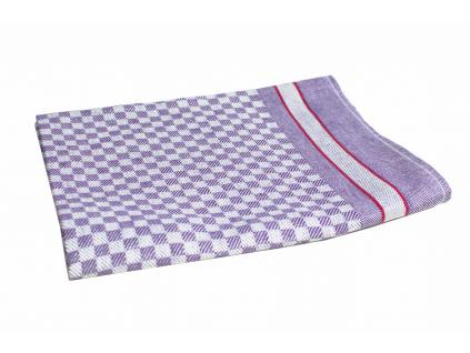 KARO fialová - lněná utěrka - LM0024_01