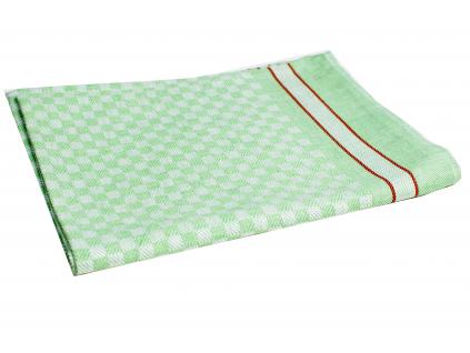 KARO zelená - lněná utěrka - LM0026_01