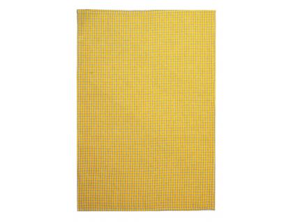 Lněná utěrka Žlutá kostka - SS0018