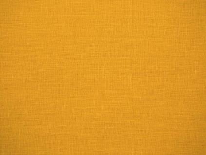 Lněná látka měkčená žlutá hořčičná - CNX031