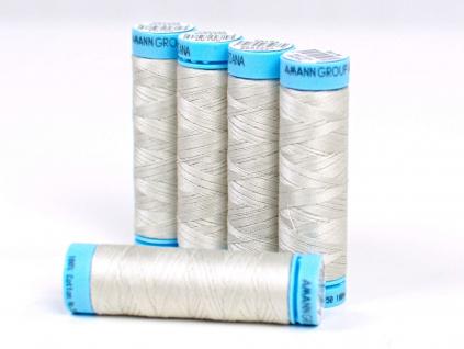 Bavlněná nit stříbro-béžová (0326) 100 metrů - VT0021
