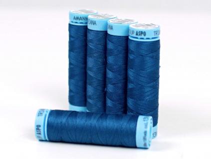 Bavlněná nit francouzská modrá (1316) 100 metrů - VT0025
