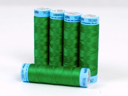 Bavlněná nit trávová zelená (0247) 100 metrů - VT0032