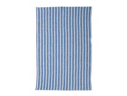 Oceán modrý - lněný ručník - LP0080_02