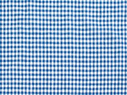 Lněná látka tmavě modrá kostka tenká - BLX063