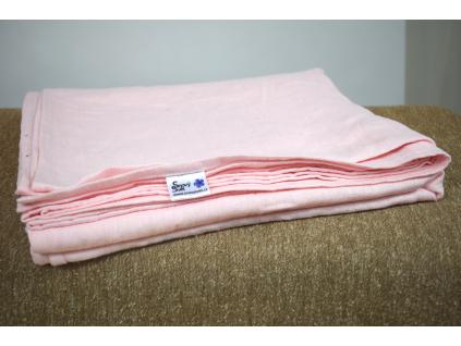 Dětské prostěradlo růžové - 100% LEN - SS0041_SV