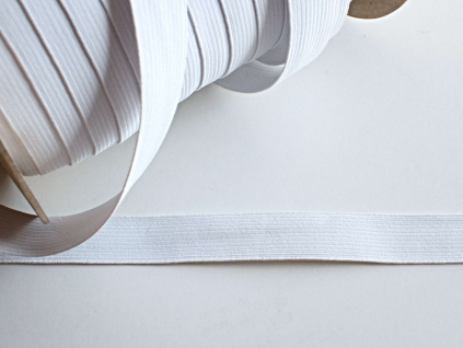 Pruženka líčková 24 mm bílá - VT0049