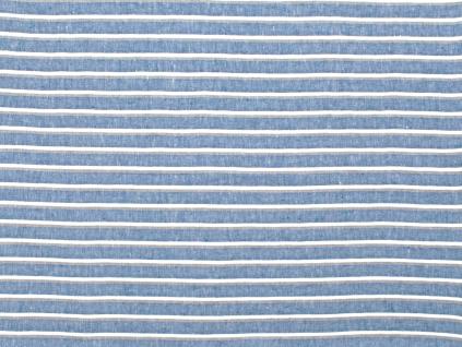 Modrý oceán - lněná látka měkčená 235cm - LPX011