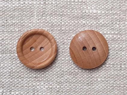 """Dřevěný knoflík s dvěma dírkami - 32"""" - ZV0012"""
