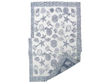 Moře modré - lněný ručník - BL0176