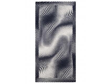 Černá iluze - lněný ručník - BL0177