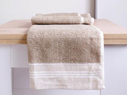 LINA režný lněný ručník - FL0014