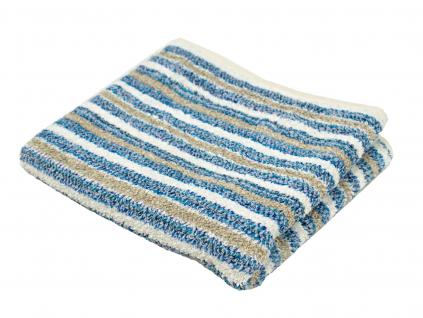 Lněný ručník měkký modrý pruh - LP0085