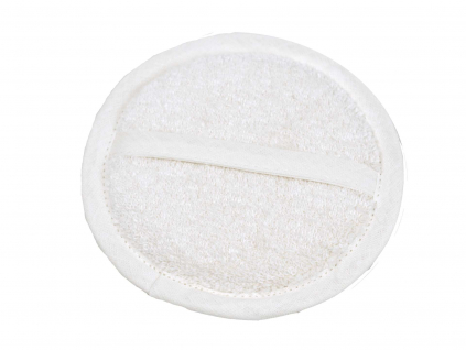 Lněná žínka měkká bílá průměr 15 cm - LP0088