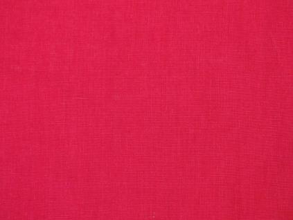Lněná látka fuchsiová růžová měkčená - LIX035