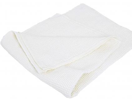 Lněný ručník vaflový polobělený - LP0090