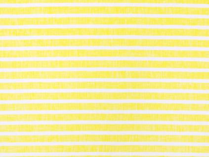 Žlutý proužek - lněná látka měkčená - BLX080