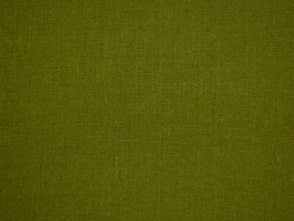 Olivově zelená - lněná látka měkčená - BLX081