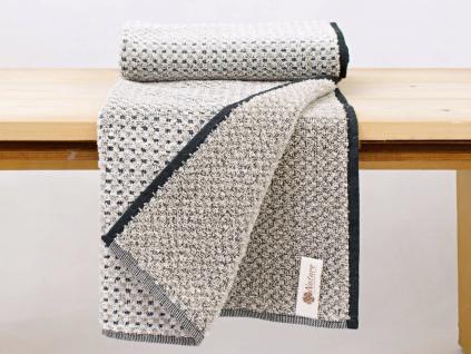 JAKUB černý ručník len/bambus - FL0028