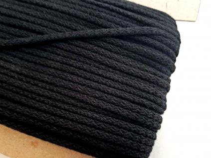 Bavlněná šňůra - černá - 4mm - VT0056