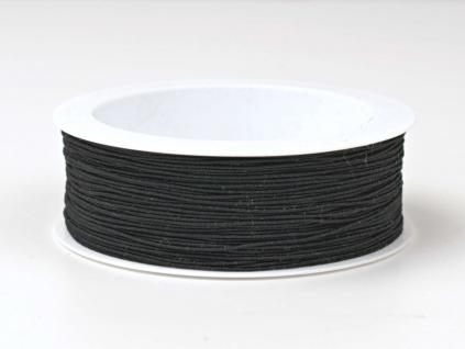 Optex pružná nit černá - 0,8 mm - VT0059