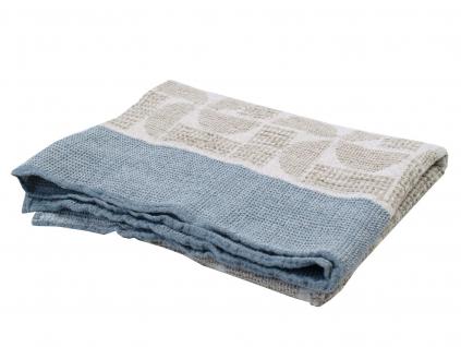 Lněný ručník velký Raus modrý