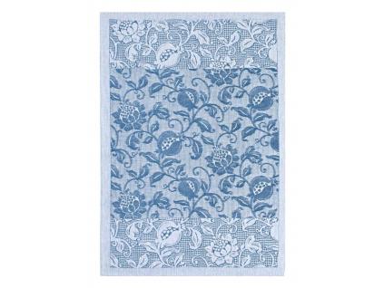 Granada modrá - lněná utěrka