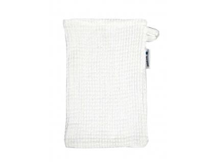Lněná žínka vaflová bílá - SS0154