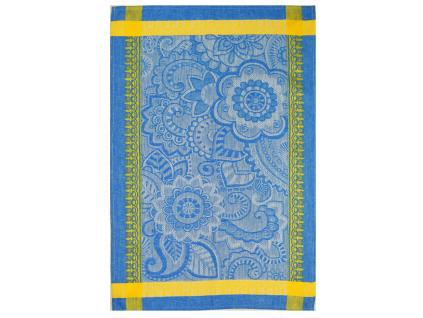 Lněná utěrka - Jarmark modrá - BL0083
