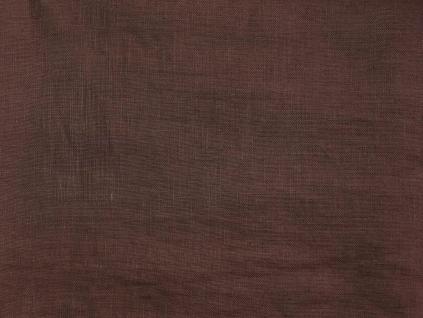 Lněná látka hnědá měkčená - CNX010