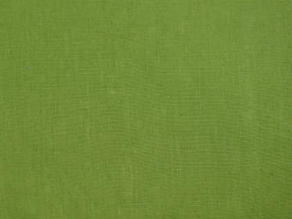 Lněná látka zelená měkčená - CNX012