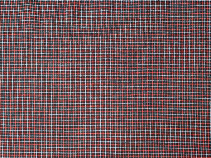 Lněné pyžamo šedý proužek