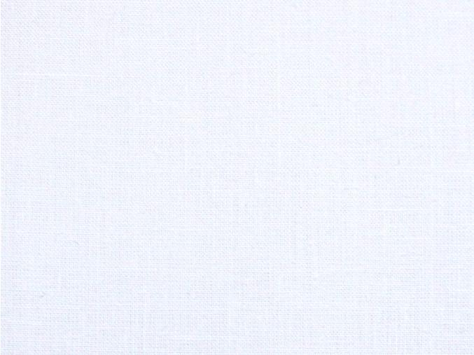 Lněná látka bílá BIALA 240 - VZOREK