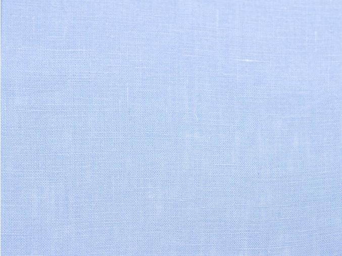 Lněná látka světle modrá měkčená