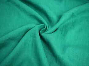 Lněná látka smaragdová měkčená