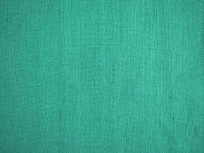 VZOREK - Lněná látka smaragdová měkčená