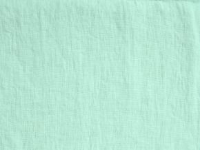 VZOREK - Lněná látka zelená mint měkčená