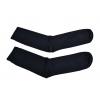 Ponožky lněné hladké černé