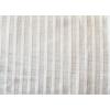 VZOREK - Lněné pruhy bílá záclonová - 50% len