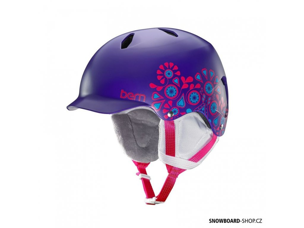 Helma na snowboard  Bern Bandita satin purple floral