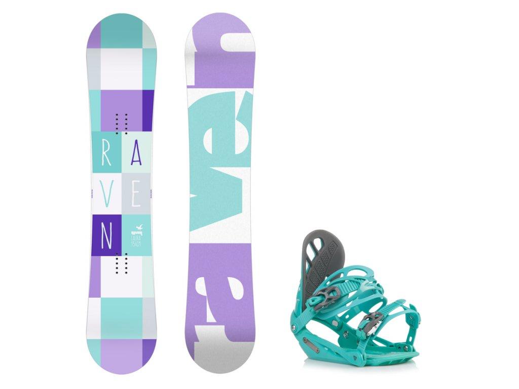 Snowboard komplet Raven Laura + vázání G1
