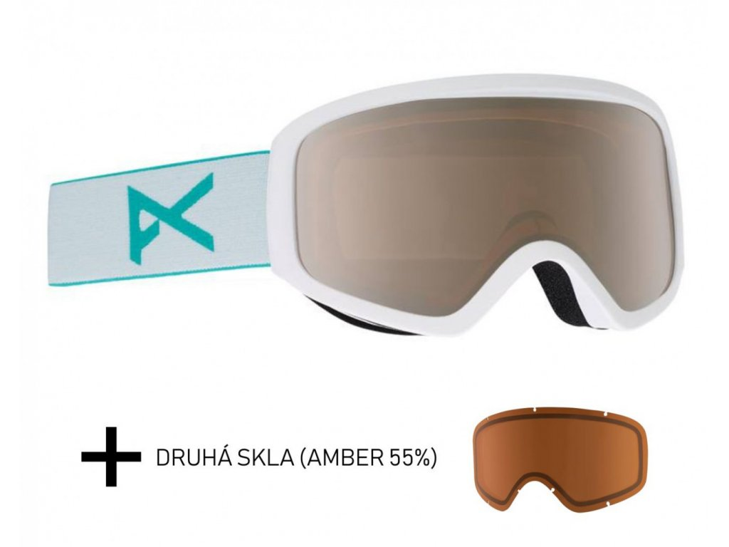 Brýle Anon Insight WHITE SILVER AMBER + skla AMBER