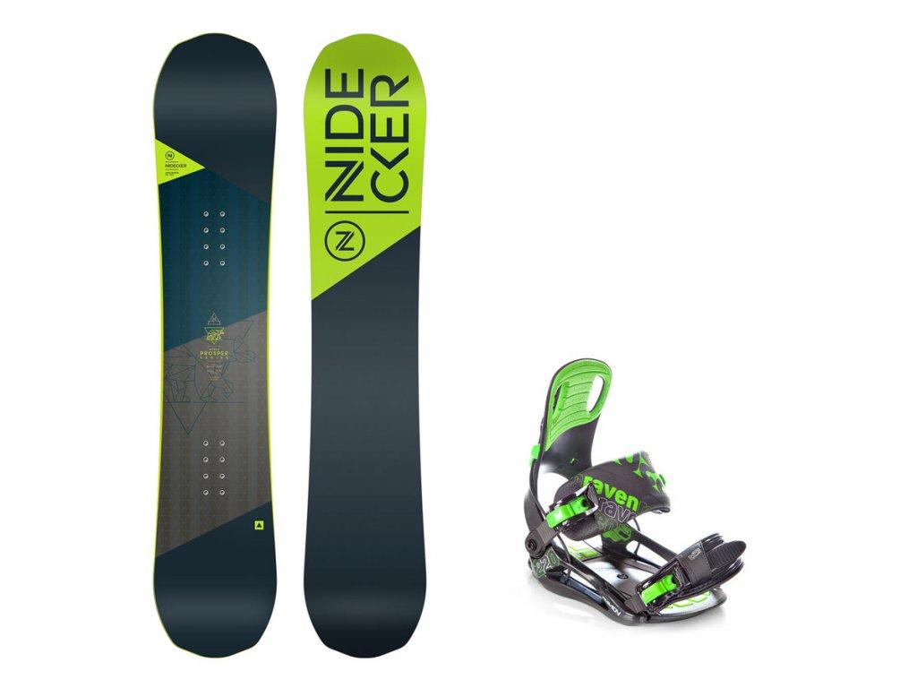 Dětský snowboard komplet Nidecker Micron Prosper 18/19 + vázání s200 green