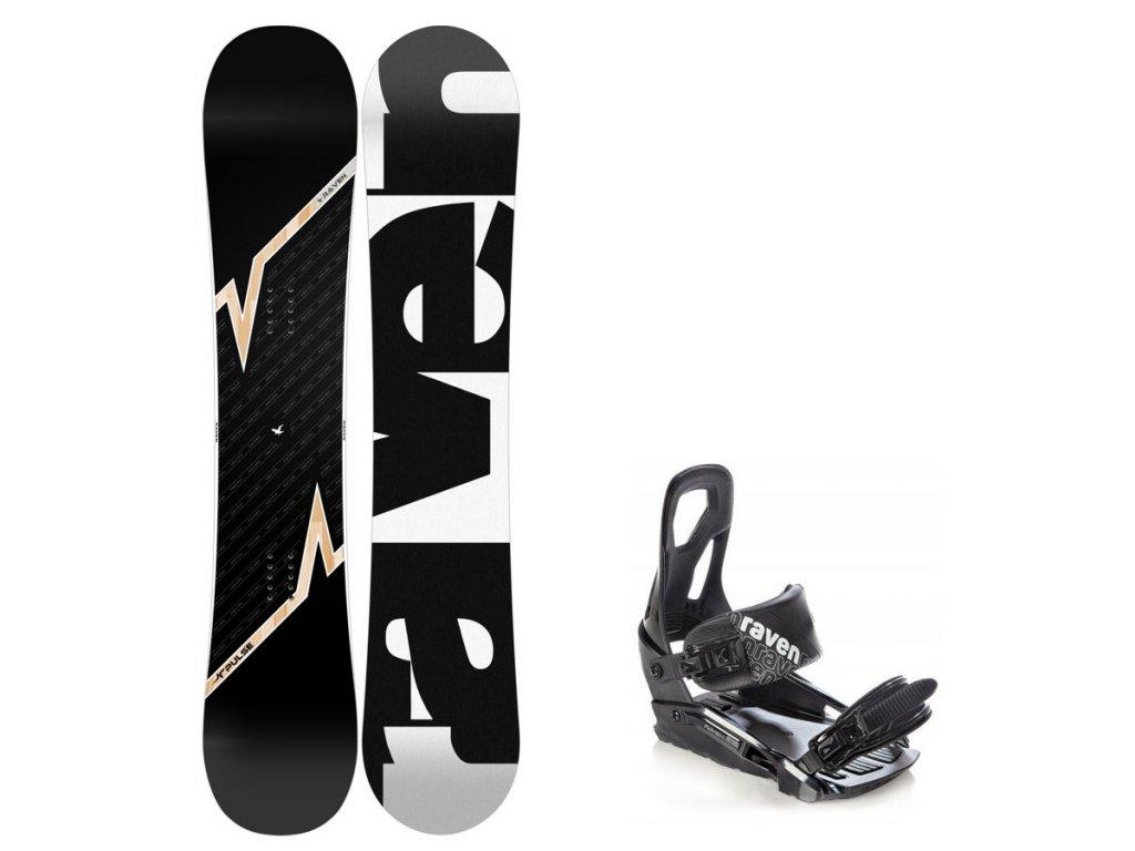 Snowboard komplet Raven Pulse 18/19 + vázání S200