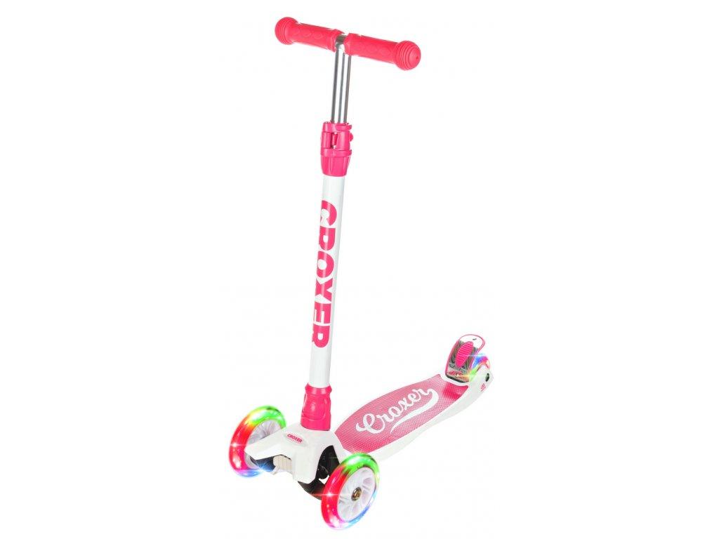 Koloběžka dětská tříkolová Croxer Nicole svítící kola LED