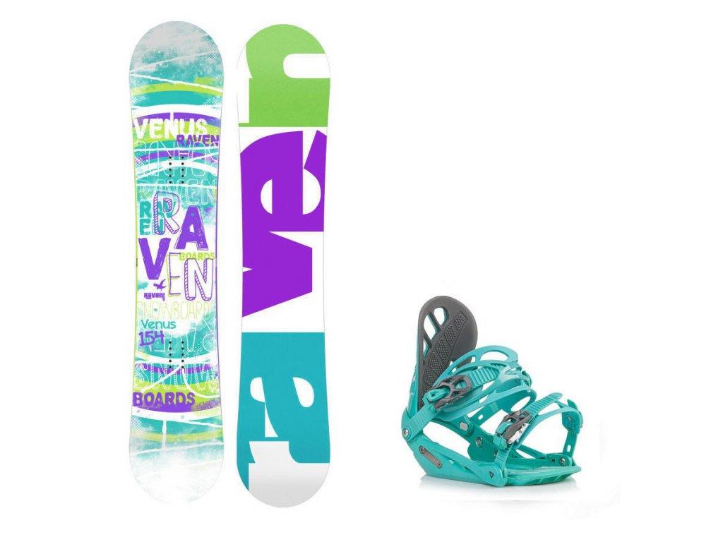 Snowboard komplet Raven Venus + vázání Gravity G1