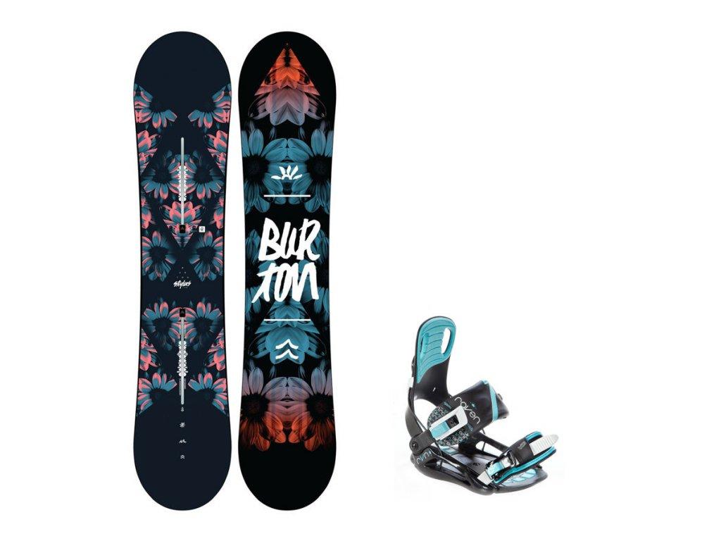 Snowboard komplet Burton Stylus 19/20 + vázání Starlet