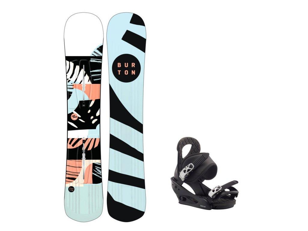 Snowboard komplet Burton Hideaway 19/20 + vázání Citizen