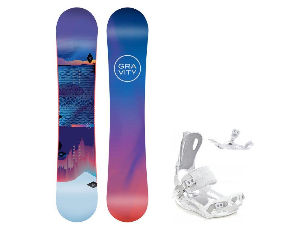 Snowboard komplet Gravity Voayer 19/20 + vázání Fastec